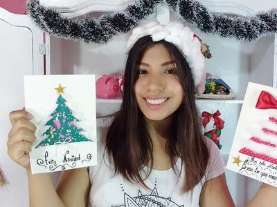 Cartas Navideñas. tarjetas , DIY especial Navidad , manualidades