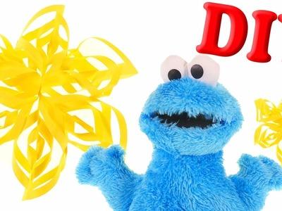 DIY Como Hacer una Estrella de Papel para tu Arbol de Navidad con la Ayuda de Cookie Monster