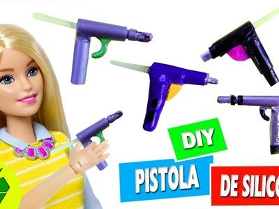 DIY   PISTOLA DE SILICONA EN MINIATURA  - manualidades para muñecas