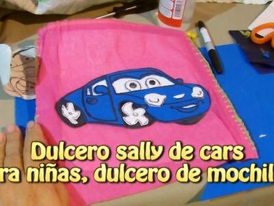 Dulcero sally de cars para niñas, dulcero de mochilita |Creaciones y manualidades angeles