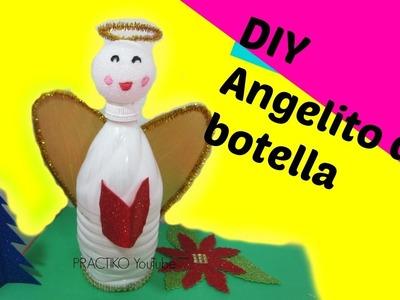 Manualidades de Navidad para niños como hacer angelito con botella de plastico -PRACTIKO