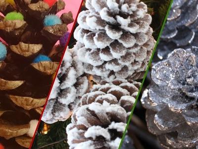 Manualidades navideñas Piñas de pino decorativas para el arbol de navidad