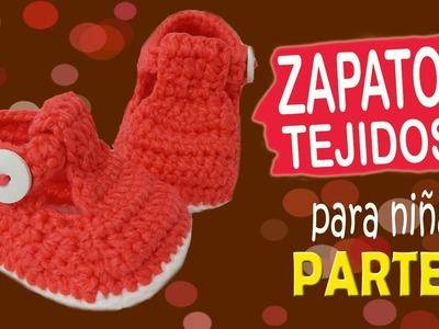 Zapatitos de niña tejidos a crochet | parte 1.2