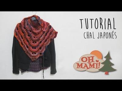 Chal Japonés tejido a crochet