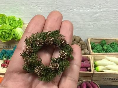 Corona de navidad . Corona navideña . Christmas wreath .Tutorial miniatura