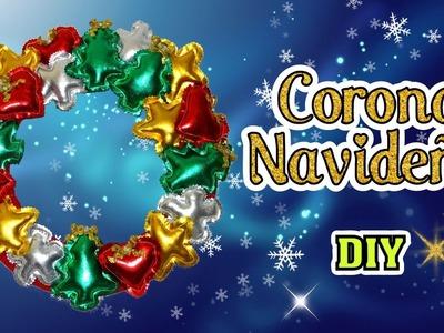 Corona Navideña con tela Latex Guirnalda facil de Navidad DIY