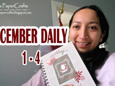December Daily | Decorando mi Diario de Navidad págs 1-4 | Tutorial DIY | Luisa PaperCrafts