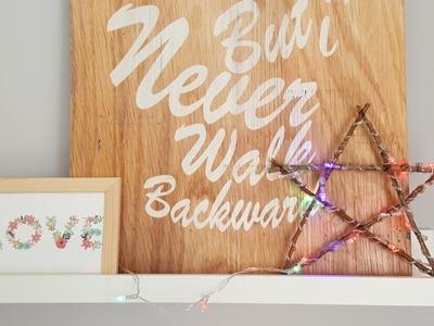 DIY Estrella Luminosa Navideña en español