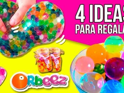 4 IDEAS para REGALAR con ORBEEZ (amigo invisible) * Manualidades y Experimentos Orbeez en español