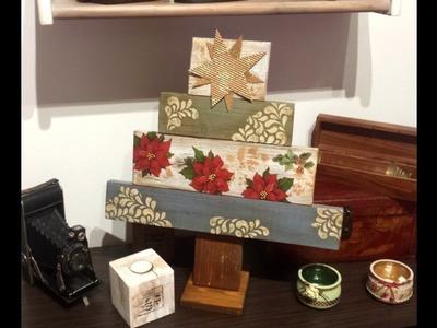 Arbol de navidad con madera reciclada de palets