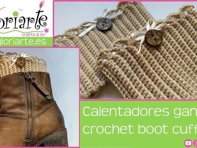 Calentadores de ganchillo. Crochet boot cuffs.