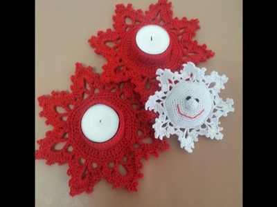 Centro de mesa para navidad crochet