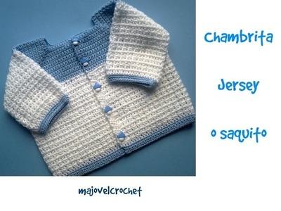 Chambrita, jesey o saquito a crochet 2parte