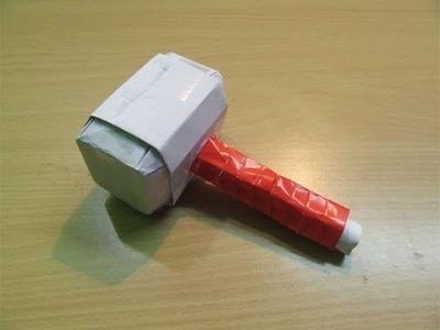 Cómo se hace Una Martillo de Thor o Mjolnir de papel ARMAS CASERAS