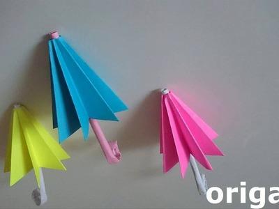 Paraguas de papel (origami)