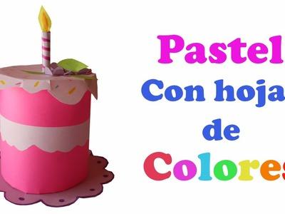 Pastel con Hojas de colores || Regalo de cumpleaños