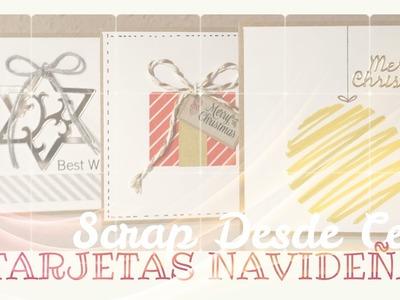 Scrap desde Cero. Tarjetas Navideñas. Tutorial tarjeta. Scrapbooking. Cómo hacer tarjetas Navideñas.