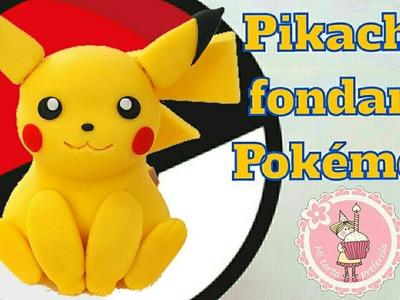 Tutorial - Como hacer a Pikachu con fondant - Pokemon | Mi tarta preferida