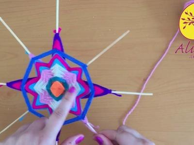 Tutorial de Mandalas tejidos - Cómo hacer pétalos
