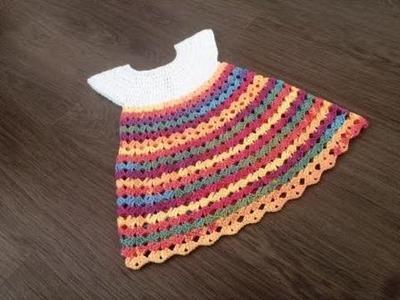 Vestido nina princesa tejido a crochet parte 1.2. Robe crochet fille 1.2