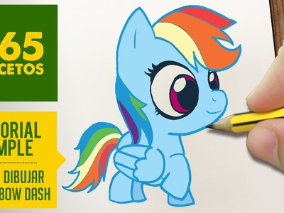 COMO DIBUJAR A RAINBOW DASH PASO A PASO - Dibujos kawaii faciles - How to draw Rainbow Dash