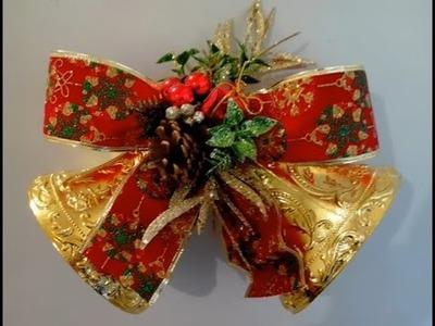 Cómo hacer adorno navideño con campanas fácil