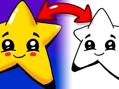 Como hacer dibujos faciles y bonitos paso a paso - Como dibujar una estrella faciles y bonito