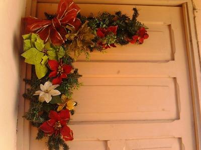 Como hacer un arreglo navideño de puerta