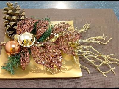 Cómo hacer un  bonito adorno navideño para mesita o baño