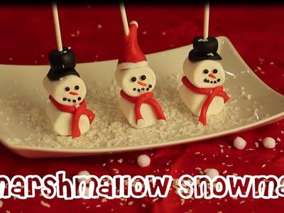 Marshmallow Snowman - Muñeco de nieve de malvavisco