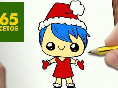 COMO DIBUJAR A ALEGRIA PARA NAVIDAD PASO A PASO: Dibujos kawaii navideños - How to draw a Joy
