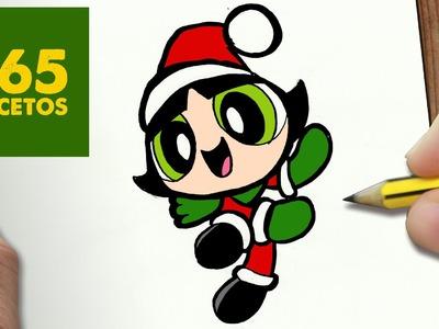 COMO DIBUJAR A BELLOTA PARA NAVIDAD PASO A PASO: Dibujos kawaii navideños - How to draw a Buttercup