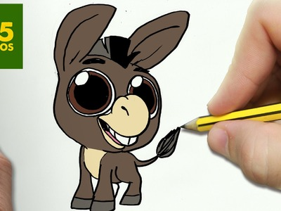 COMO DIBUJAR ASNO SHREK KAWAII PASO A PASO - Dibujos kawaii faciles - How to draw a DONKEY