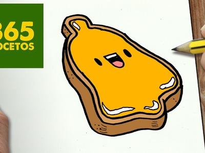 COMO DIBUJAR GALLETA CAMPANA PARA NAVIDAD PASO A PASO: Dibujos kawaii navideños - draw  cookie