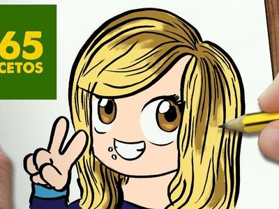 COMO DIBUJAR LUNADEANGELI KAWAII PASO A PASO - Dibujos kawaii faciles - How to draw a LUNADEANGELI