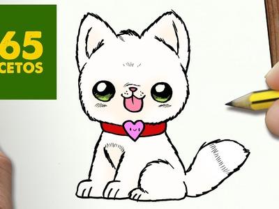 COMO DIBUJAR PERRO KAWAII PASO A PASO - Dibujos kawaii faciles - How to draw a Dog