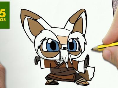 COMO DIBUJAR SHIFU KUNG FU PANDA 3 KAWAII PASO A PASO - Dibujos faciles - How to draw Shifu