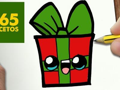 COMO DIBUJAR UN REGALO PARA NAVIDAD PASO A PASO: Dibujos kawaii navideños - How to draw a gift