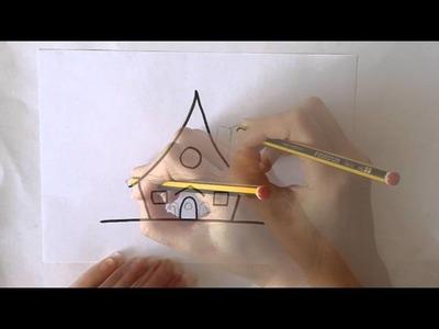 Cómo dibujar una Casa de Jengibre Dibuja Conmigo Dibujos de Navidad