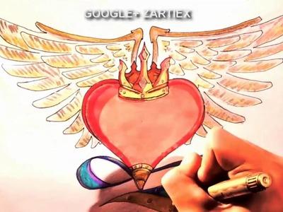 Dibujos de amor para dibujar faciles de hacer a lapiz - Dibujos de amor paso a paso