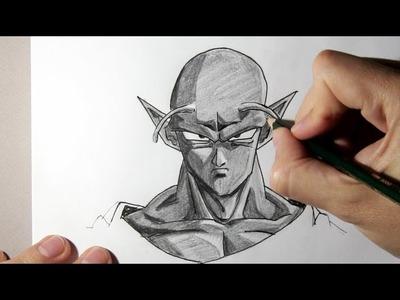 Cómo dibujar a Piccolo de Dragon Ball Z  -  Dibujos Para Pintar