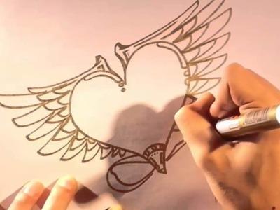 Como dibujar un corazon paso a paso - Dibujos de amor para pintar y colorear