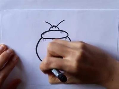 Cómo dibujar un Escarabajo Fácil Dibuja Conmigo Dibujos de Insectos