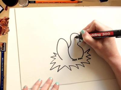 Como dibujar un Pollito de Pascua - dibujos para niños