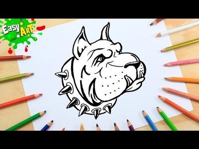 Dibujos│Cómo Dibujar un perro Boxer│How to draw dog Boxer