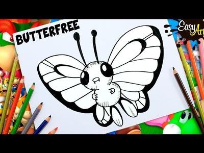 DIBUJOS POKEMON GO│Cómo Dibujar a Butterfree│How to draw  Butterfree