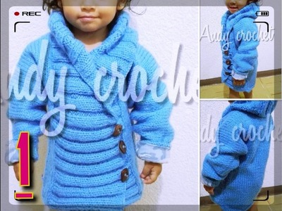 ABRIGO EN #AGUJAS  #BABY BLUE  ( todas las tallas )  1 de ( 3 )