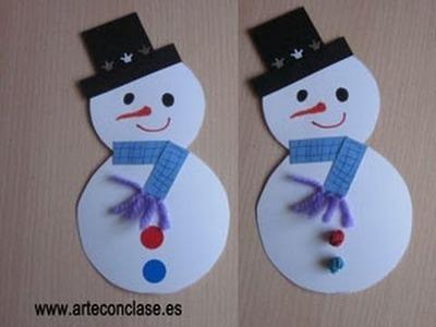 Arte con clase. Navidad: muñeco de nieve.