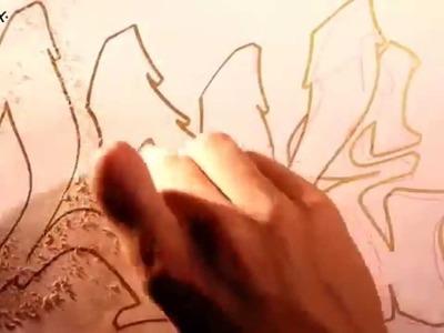 Como hacer y dibujar letras 3D de graffitis fáciles y sencillas