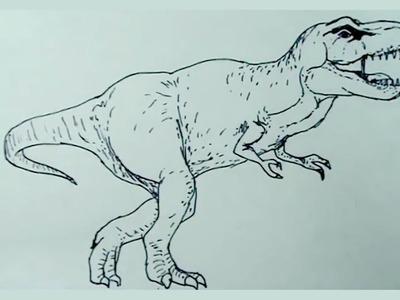 Dibujos de dinosaurios fácil 6.8 - Como hacer un tiranosaurio rex